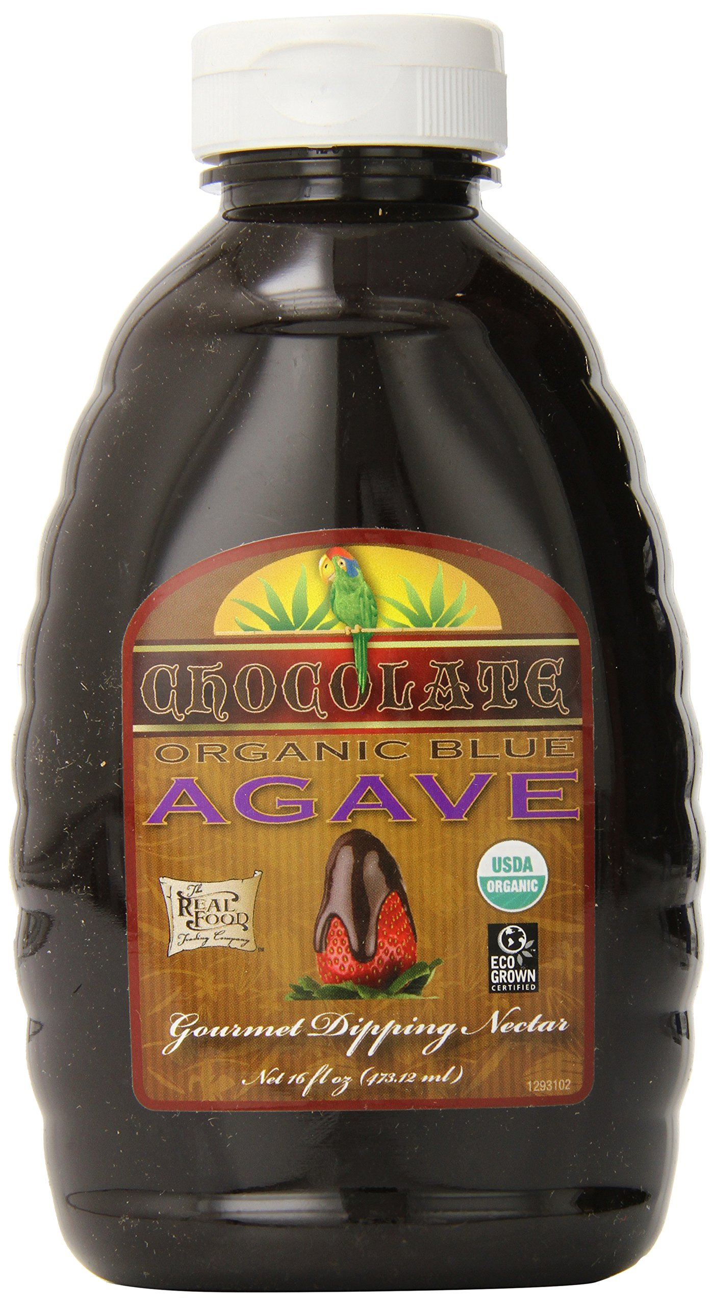 Funfresh Foods Organic Chocolate Agave Nectar, Blue, 16 ounce (Pack of 6) by FunFresh Foods