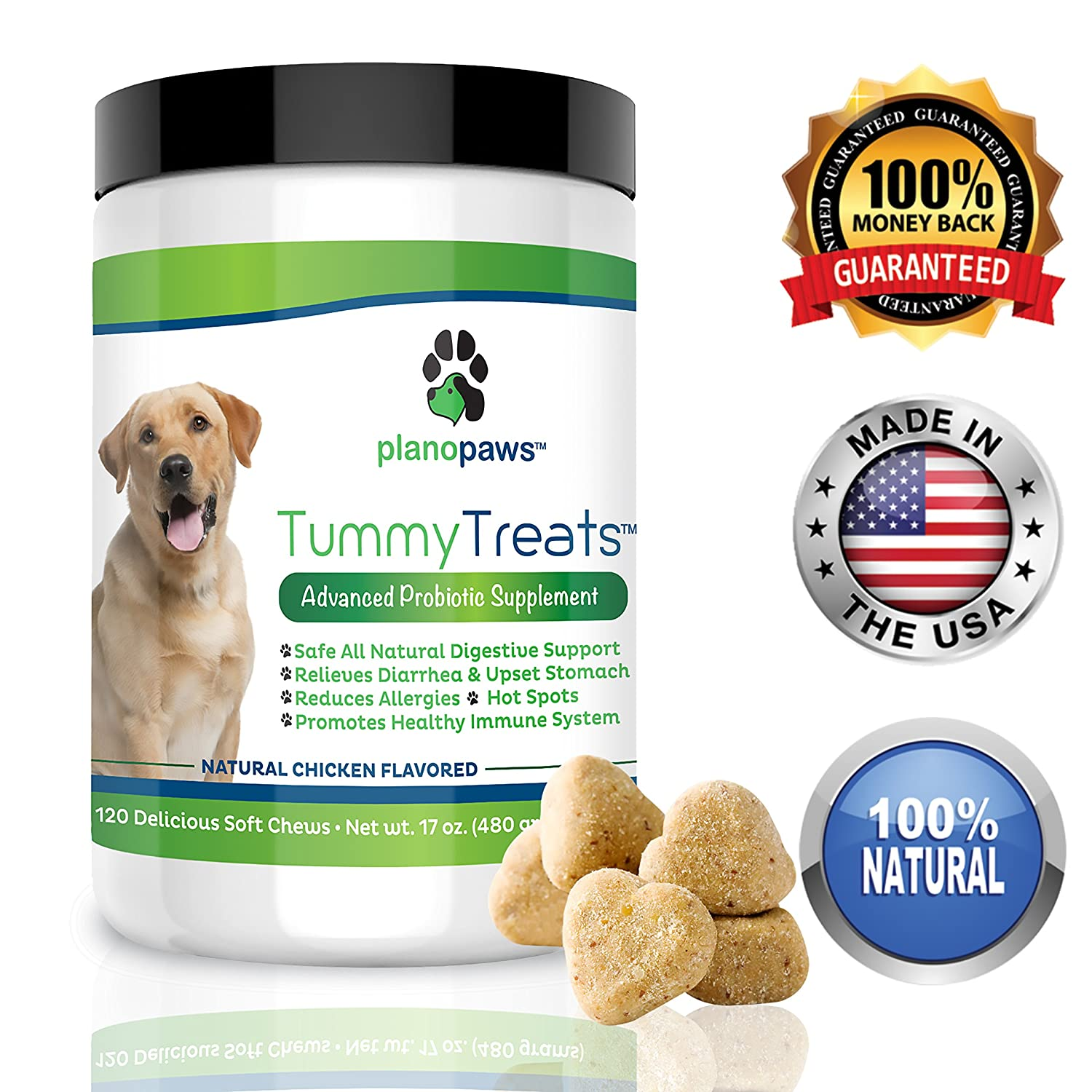 Amazon.com : Tummy Treats, Best Probiotics for Dogs, Helps Dog ... | Dog Food Allergy Bad Breath