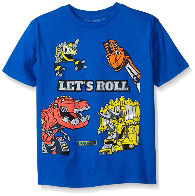 Dinotrux Little Boys' Short Sleeve T-Shirt Shirt, Royal, Medium/5-6