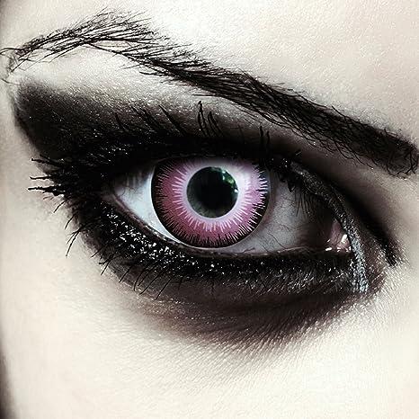 4db02b45609 Lentilles de couleur rose sans correction pour halloween elfe costume +  Récipient gratuit - perfectionné son