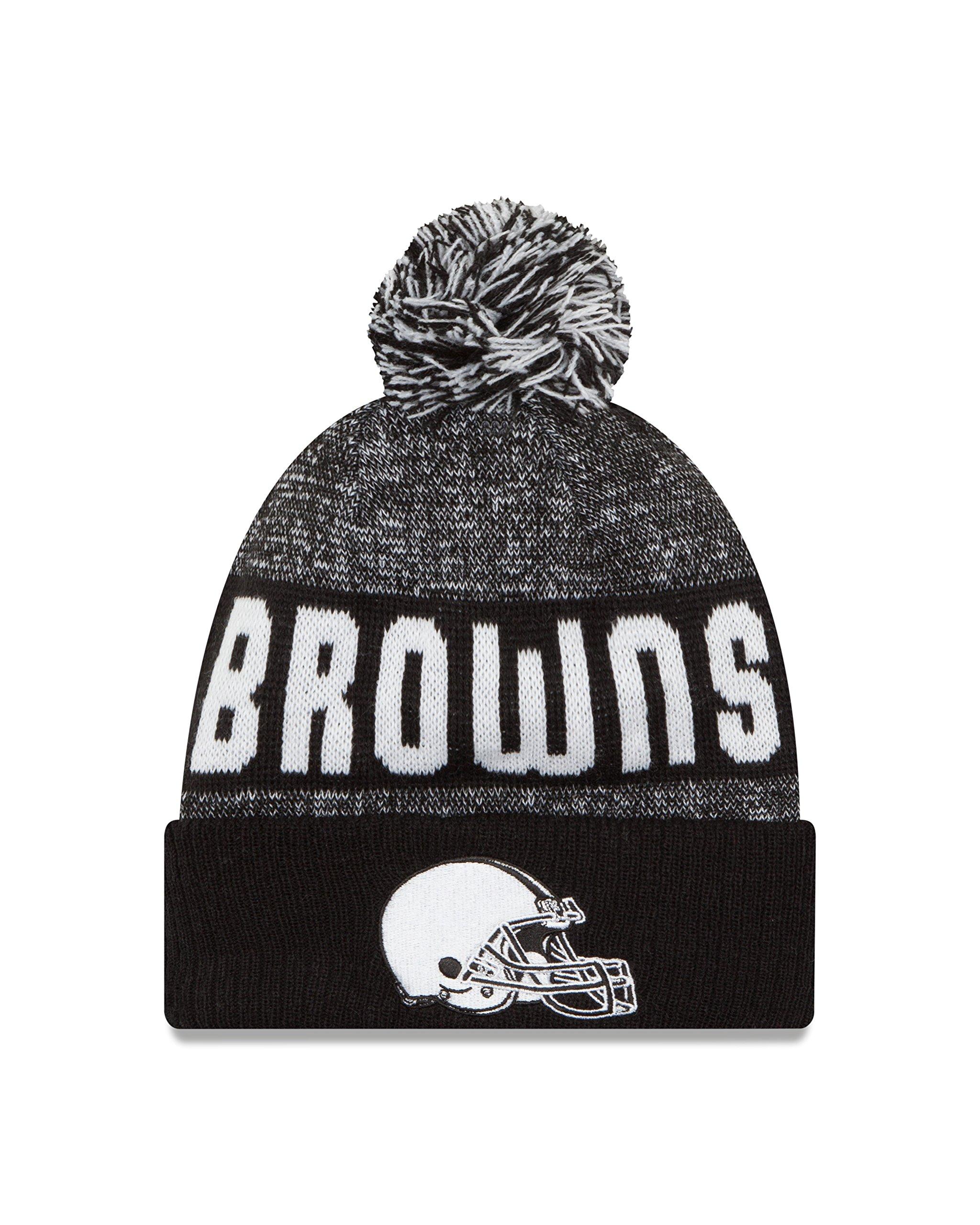 New Era NFL Cleveland Browns 2016 Sport Knit Beanie, One Size, Black/White