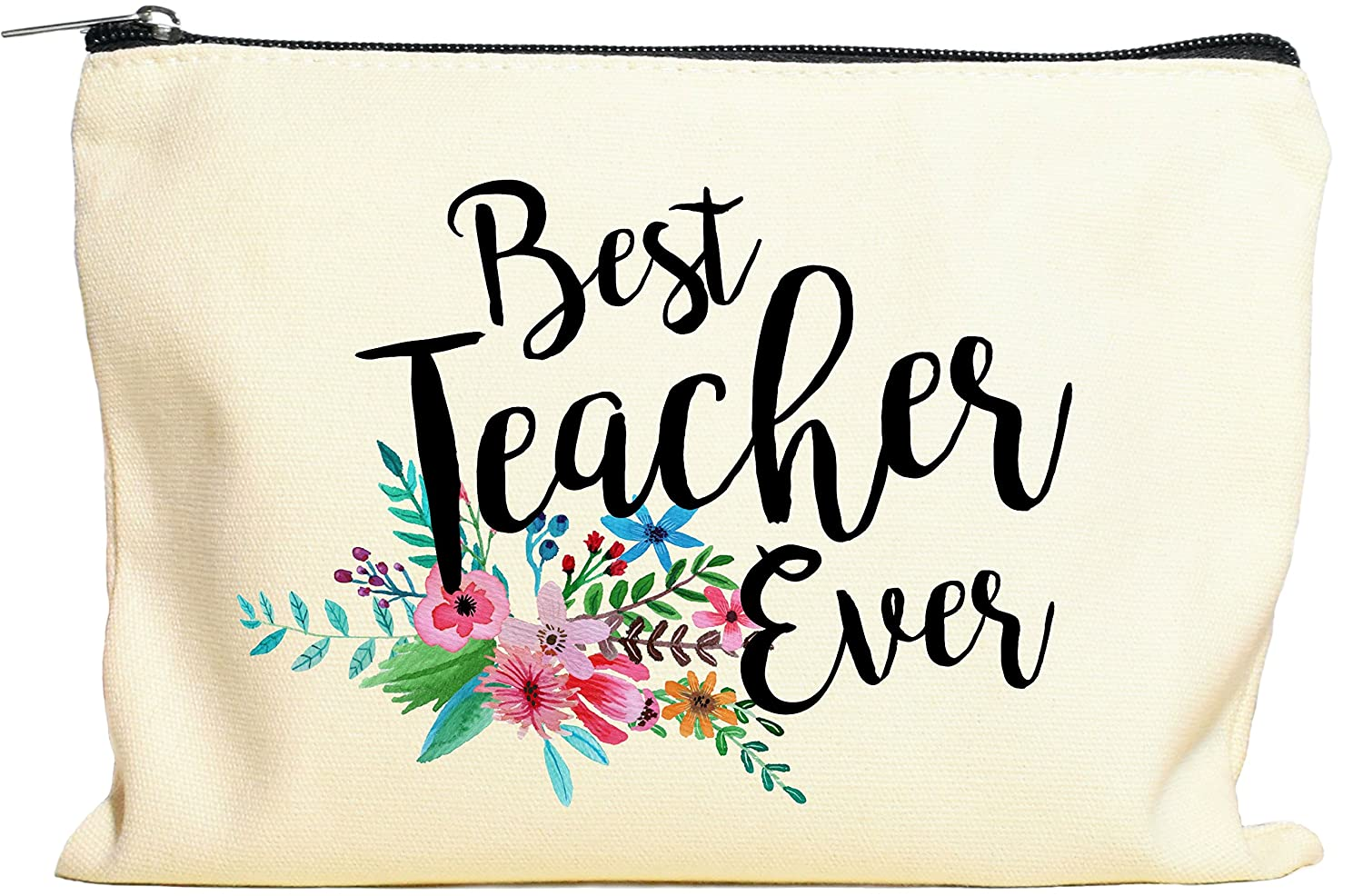 Teacher Gifts, Teacher Appreciation Gift, Best Teacher Ever, Makeup Bag, Pencil Case, Teacher Gift, Teacher Gifts For Women, Preschool, Elementary, High School, Teacher Pencil Bag Moonwake Designs Co
