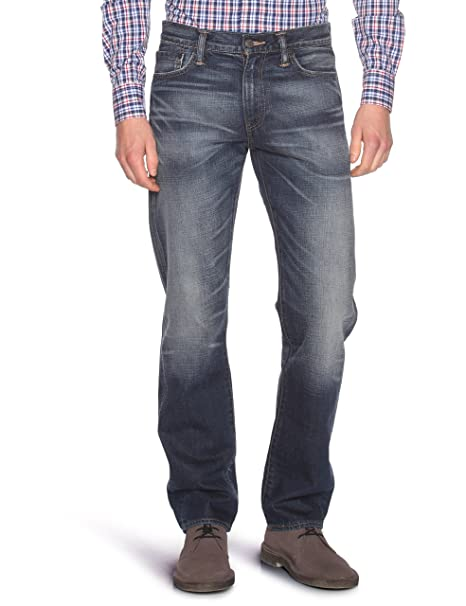 Levis 504 Pantalones vaqueros para hombre, corte recto Azul azul 31L
