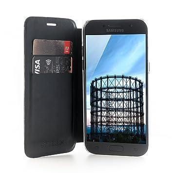 Jt Berlin Foliocase Schöneberg Für Samsung Galaxy A5 2017 Handarbeit Transparente Hartschale Standfunktion Kartenfächer Schwarz 10173