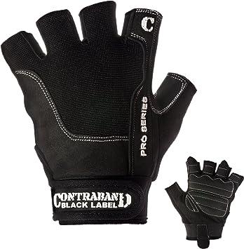 NEW Black Genuine Leather Bike /& Fitness Gloves Padded Palms Nylon Stitched