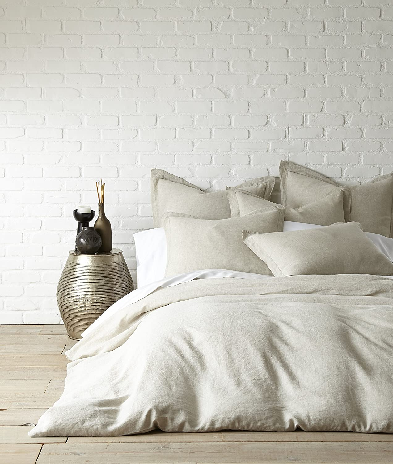 Levtex Washed Linen Blush Twin Duvet Cover