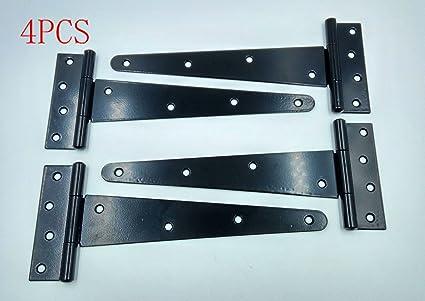 Wang Data 4PCS T Strap 11u0026quot; Heavy Duty Shed Hinge Gate Decorative Strap