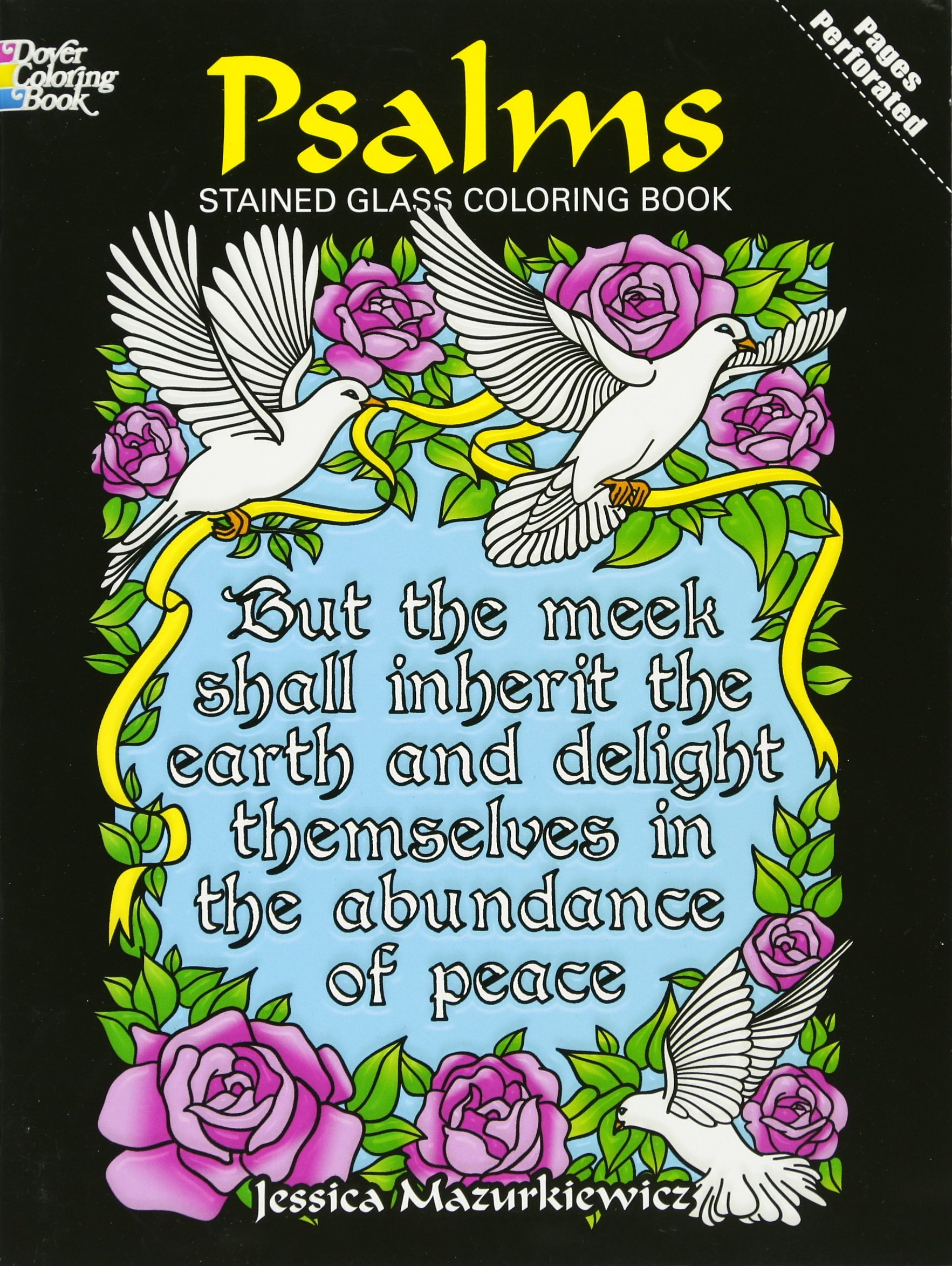 Psalms Stained Glass Coloring Book Dover Stained Glass Coloring