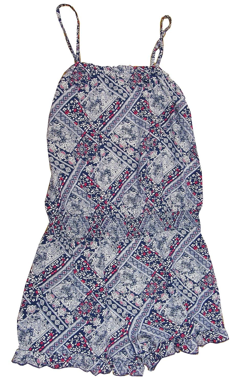 7-16 Bandanna-Print Romper Medieval Blue Large 14 Epic Threads Big Girls