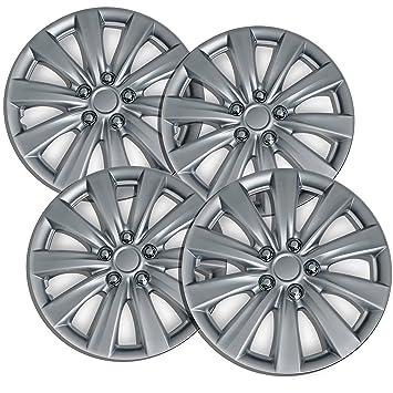 OxGord Tapacubos para Toyota Corolla 2009 – 2014 Set de 4 unidades fundas para ruedas de