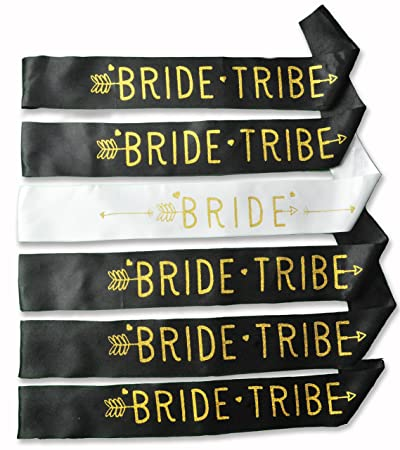 bride tribe sash bachelorette party decorations bridal shower gifts or favors bride to be