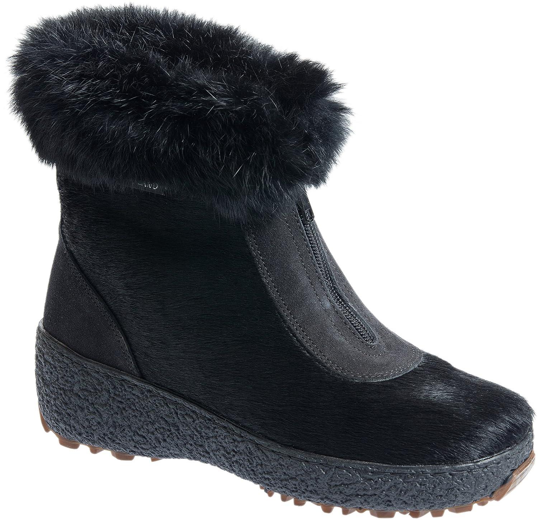 Overland Sheepskin Co Women's Rose Wool-Lined Rabbit Fur and Calfskin Boots B076XR7P98 EU38