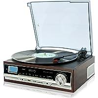 Camry CR1114 - Tocadiscos con MP3/USB/SD y función de grabación, Color marrón