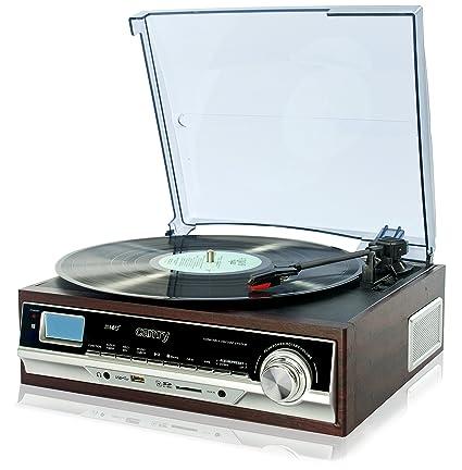 Camry CR1114 - Tocadiscos de Vinilo Vintage, Retro, con USB, SD ...