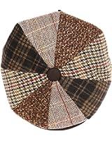 Sakkas Jay Gatsby 8 Panel Wool Newsboy Paperboy Snap Brim Cap Hat
