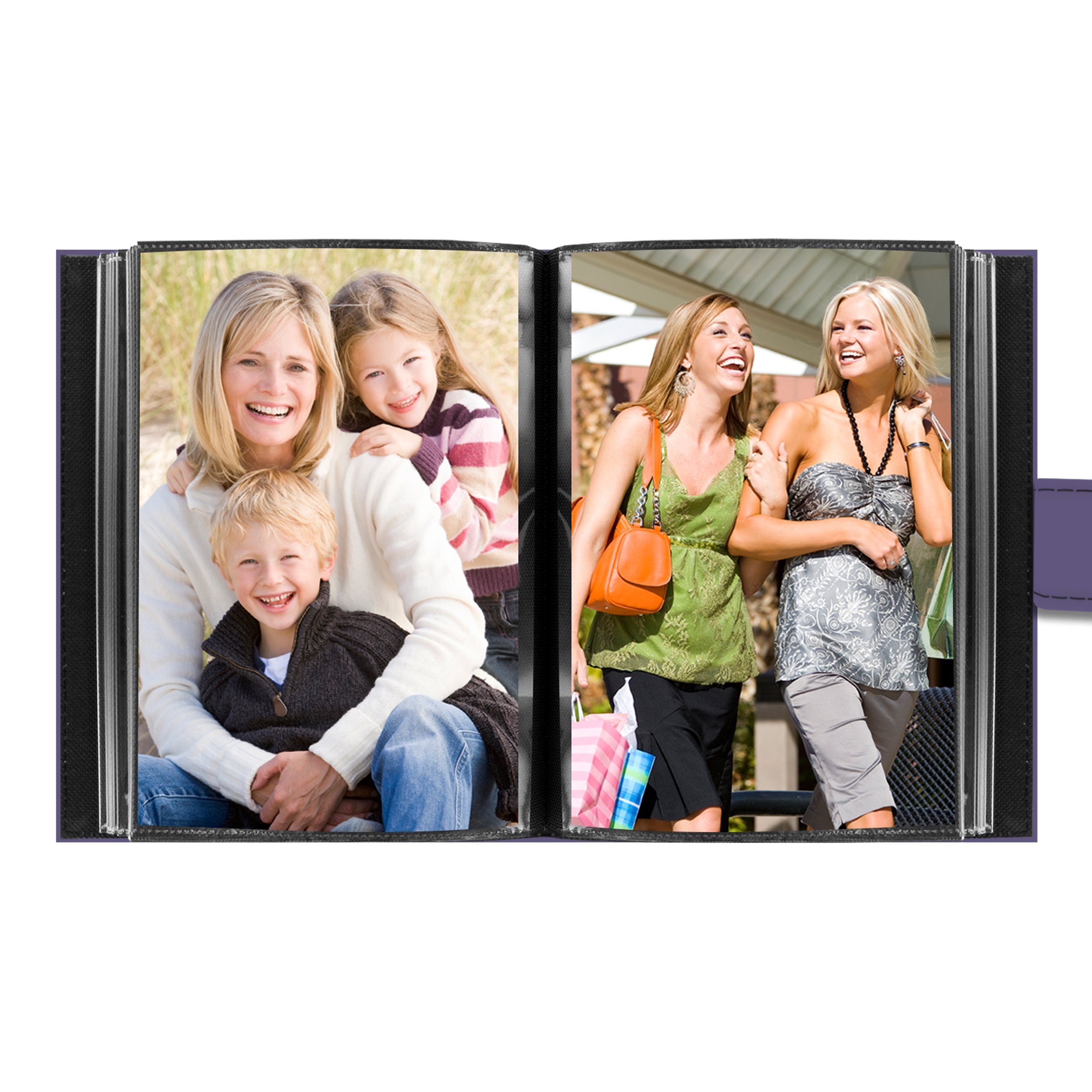 Pioneer Photo Albums EXP-46/LF Pioneer Embroidered Magnetic Strap Sewn Leatherette Cover Mini Photo Album,''friends'' Lavender by Pioneer Photo Albums