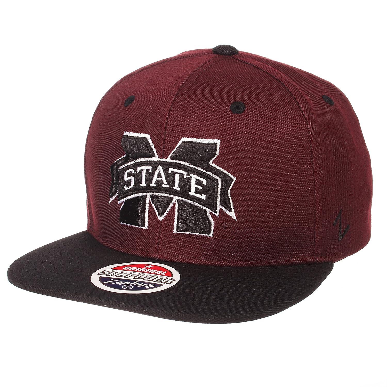 NCAA Zephyr Mississippi State Bulldogs Mens Z11 Static Snapback Hat Black//Team Color Adjustable