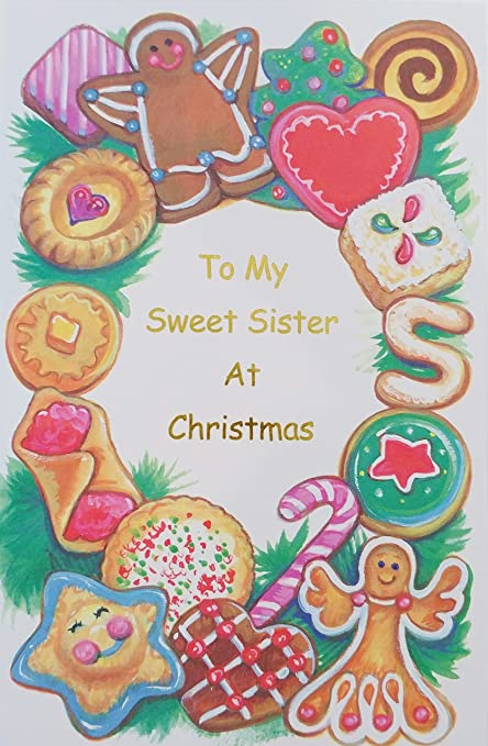 Amazoncom To My Sweet Sister At Christmas Greeting Card Office