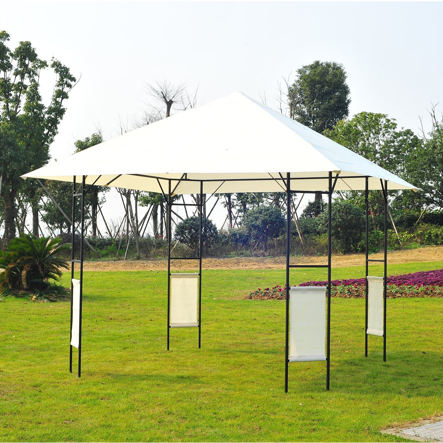 Amazon.com : Outsunny Modern Outdoor Canopy Cover Gazebo, 10 Feet X  10 Feet, Cream : Garden U0026 Outdoor