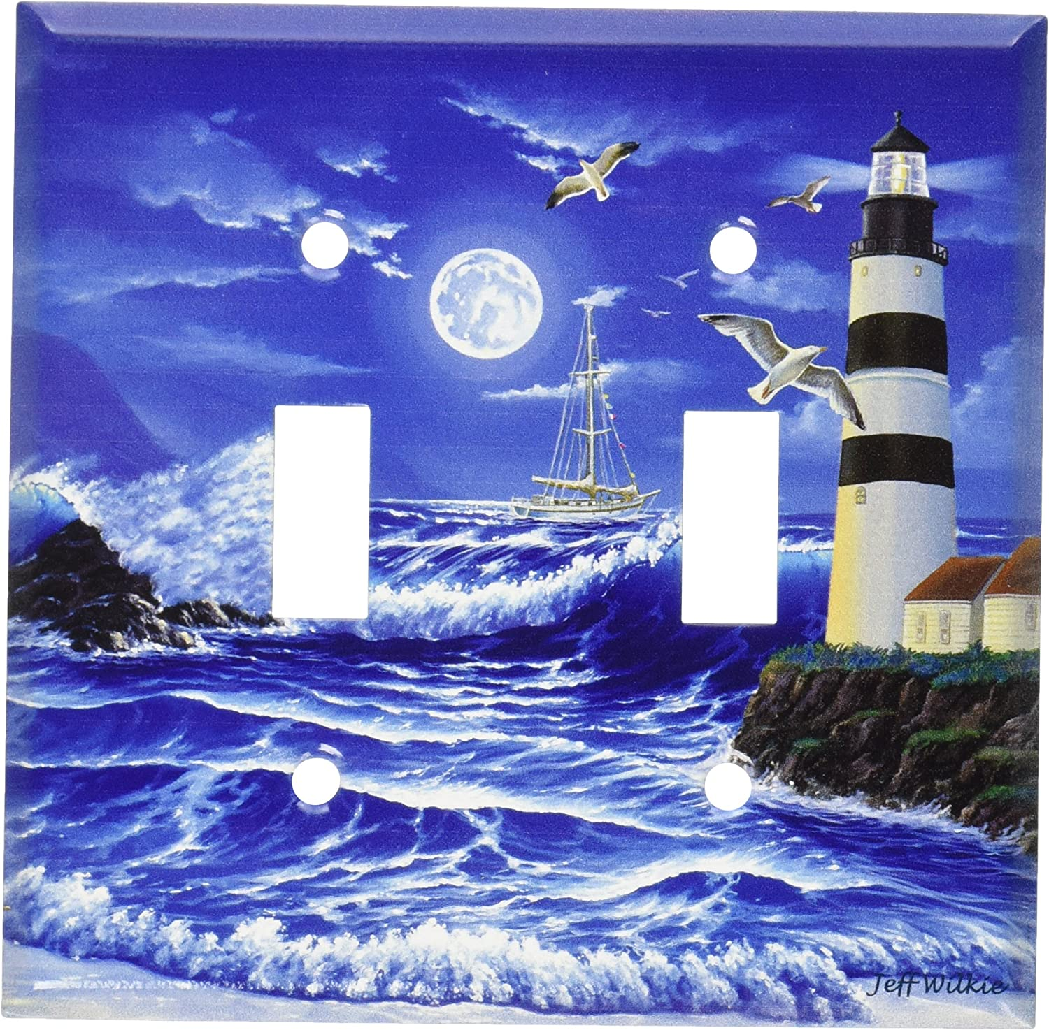 2 Lighthouse Nautical Home Decor Light Switch Plates and Outlets LIGHTHOUSE No