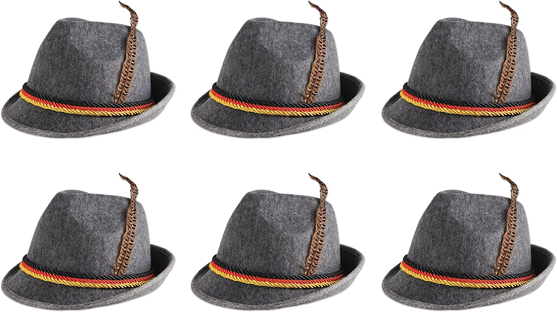 Beistle 60243 6-Pack German Alpine Hats The Beistle Company