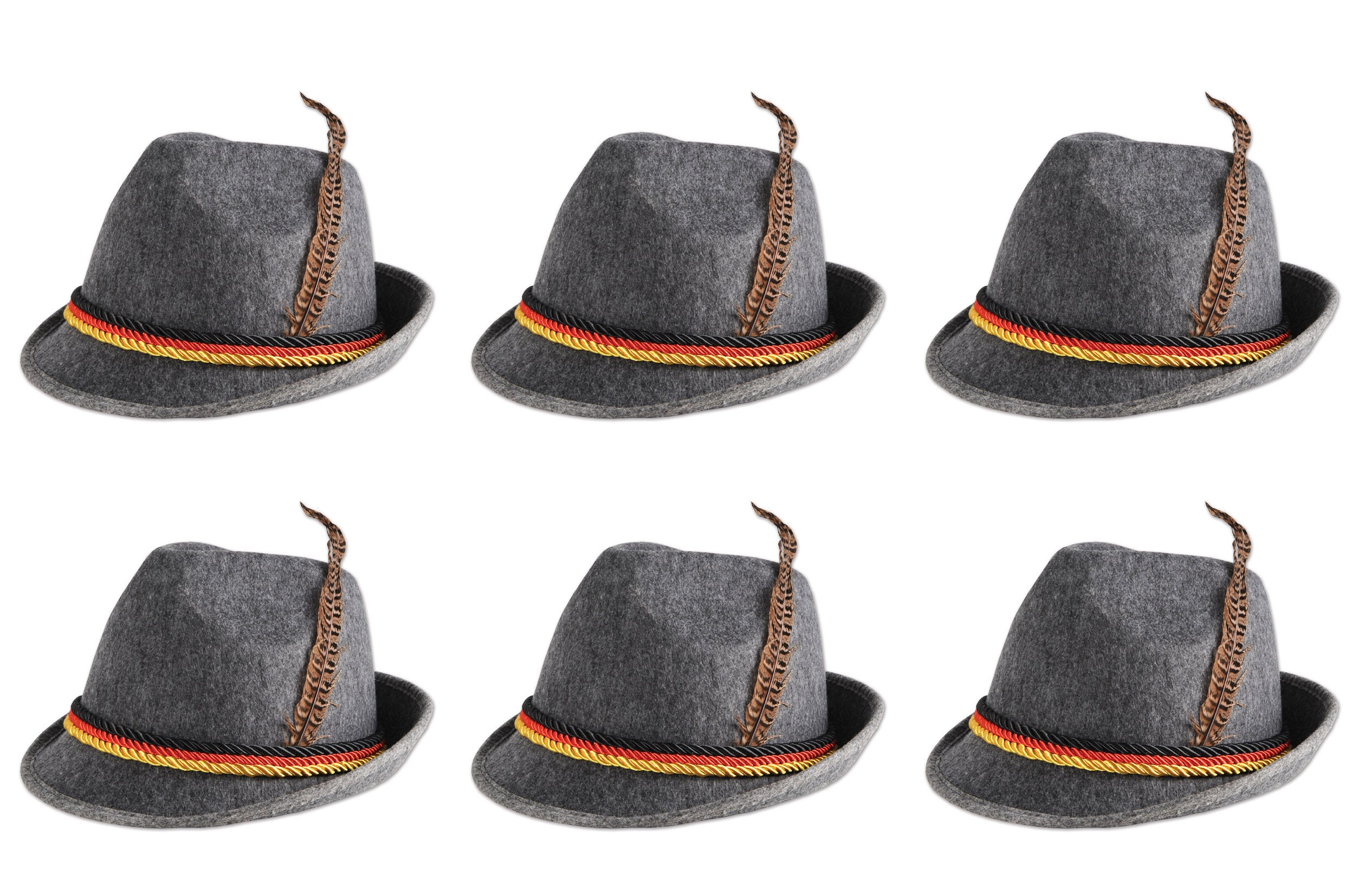 Beistle 60243 6-Pack German Alpine Hats