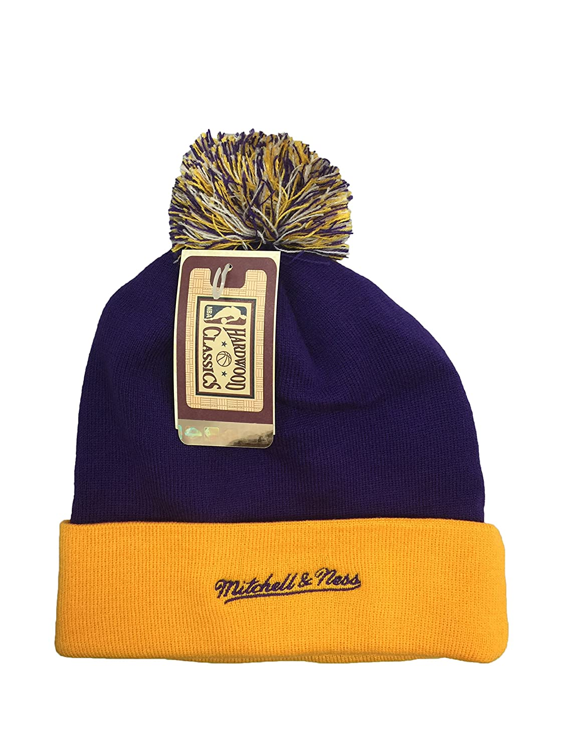 7846254675e Amazon.com  Mitchell   Ness New Orleans Jazz Primary Team Color Cuffed Knitted  Hat  Clothing