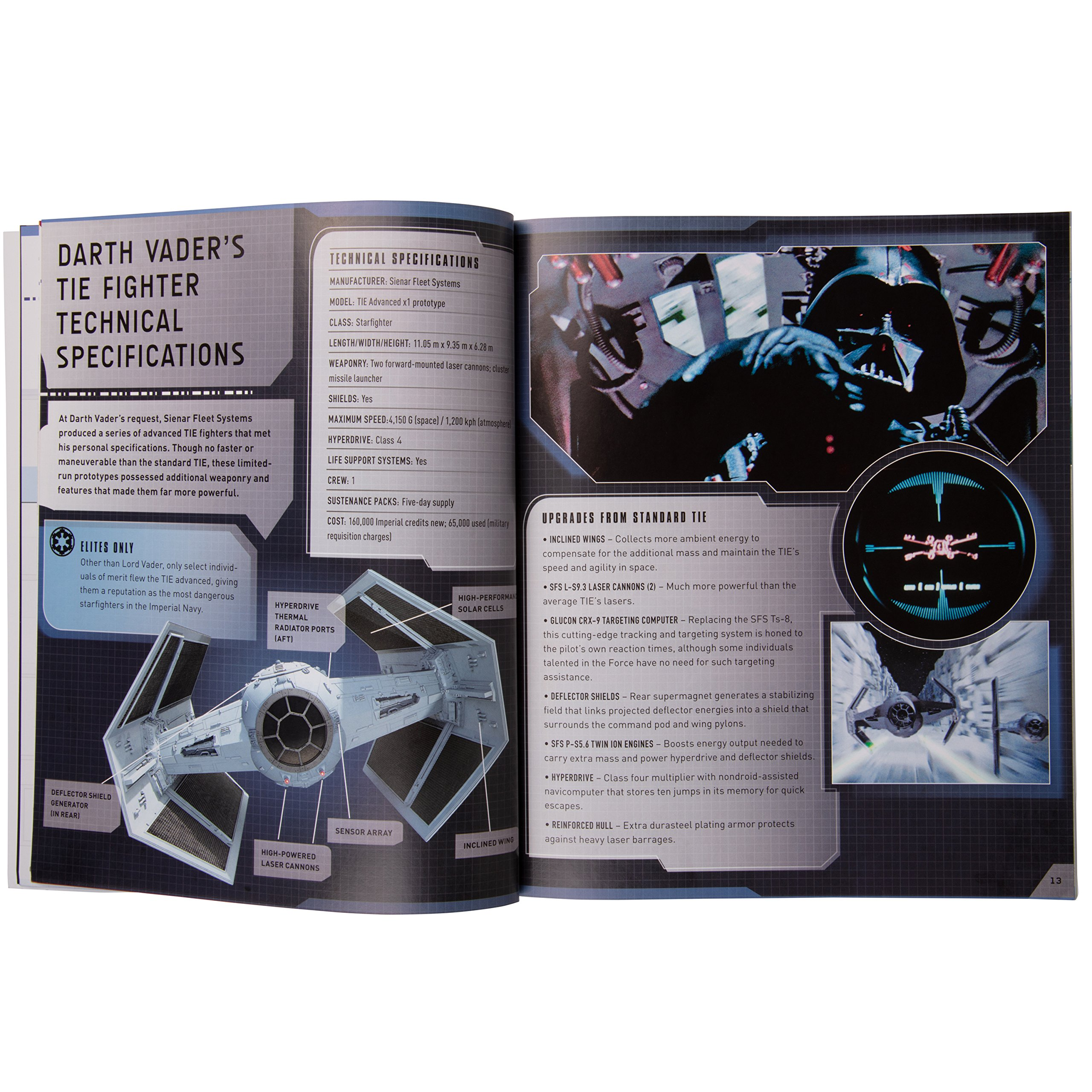 Star Wars Tie Fighter Book and 3D Wood Model Kit - Build, Paint and Collect  Your Own Wooden Model - Great For Kids and Adults, 12+ - 4 5''
