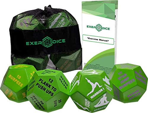4-Pack Exercise Dice Bundle