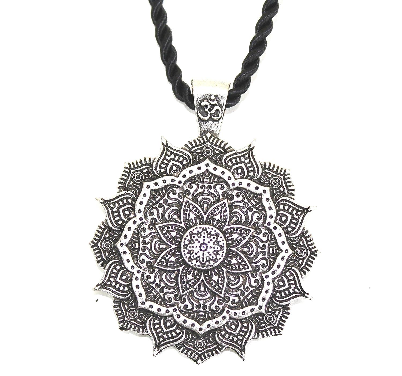 b9bf9901caaf Collar con colgante - Amuleto - Mandala - Lotus - Sagrado - Budista - Yoga -