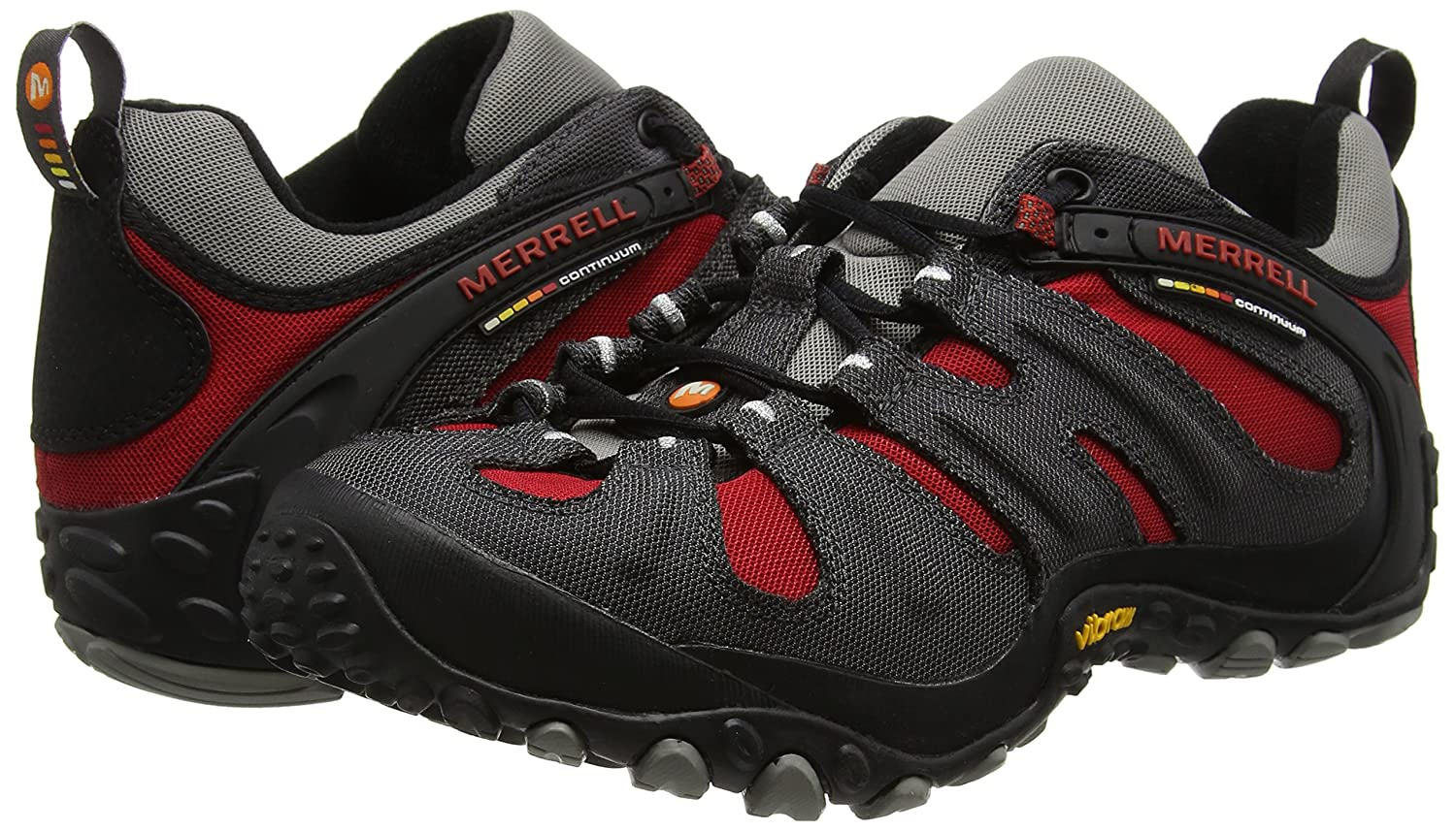 Amazon.com | Merrell Mens Chameleon Slam II Walking Shoe, Charcoal Red - 8 D(M) US | Walking