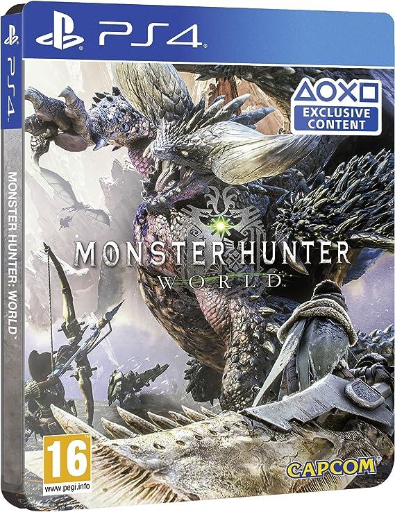 PS4 Monster Hunter: World - SteelBook Edition - PREOWNED: Amazon.es: Videojuegos