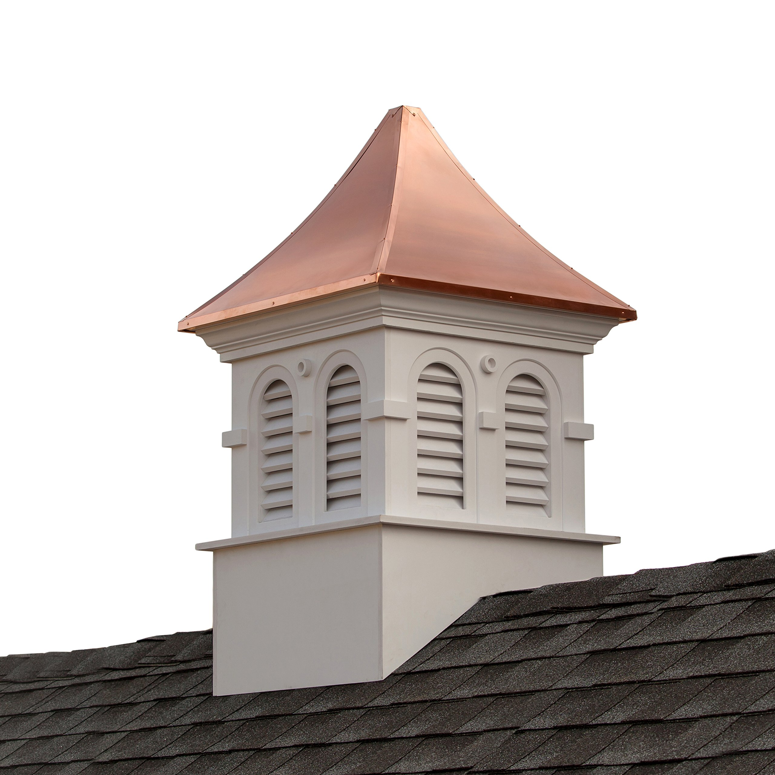 Smithsonian Columbia Vinyl Cupola with Copper Roof 42'' x 67'' by Good Directions