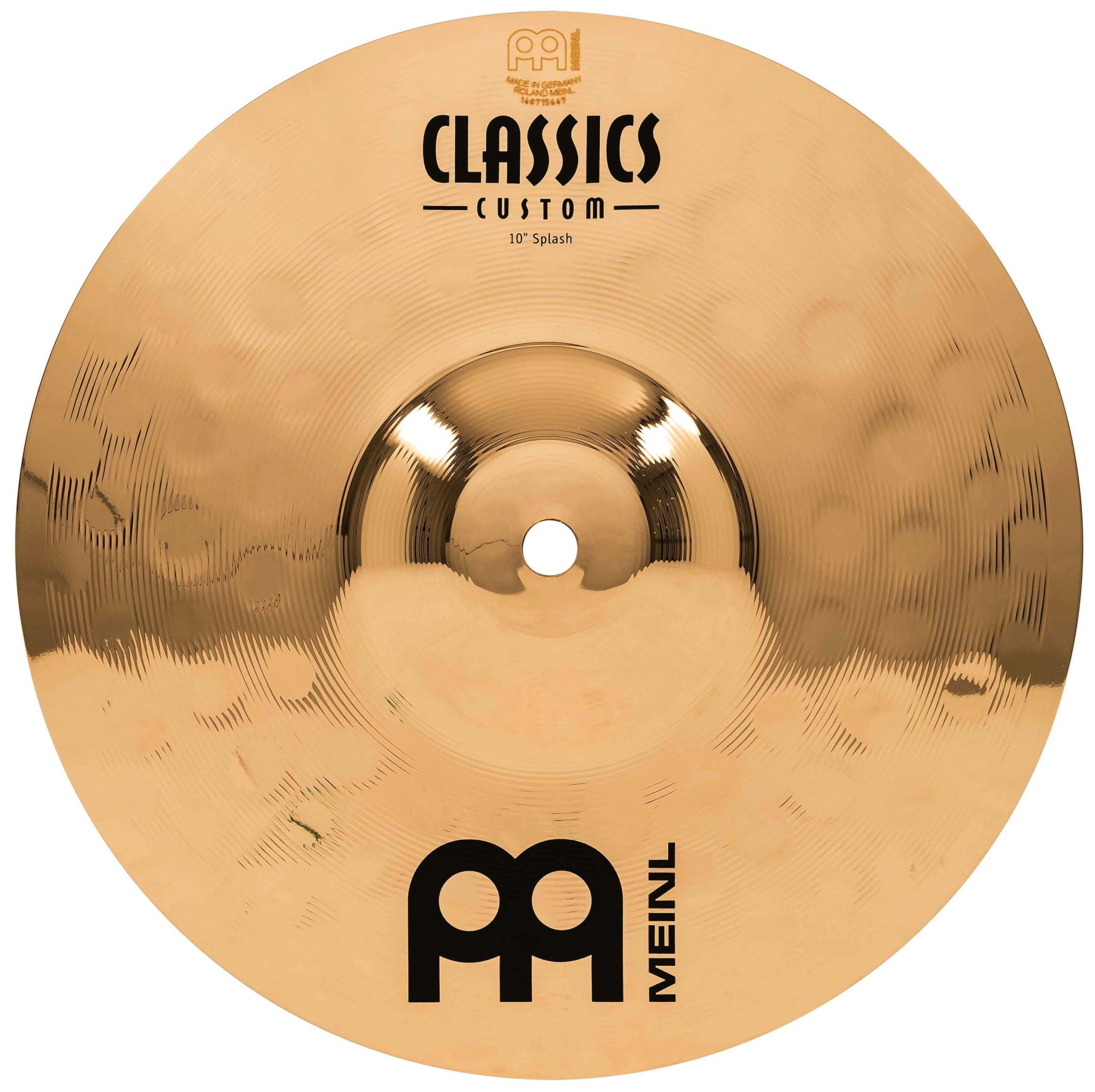 Meinl 10'' Splash Cymbal - Classics Custom Brilliant - Made In Germany, 2-YEAR WARRANTY (CC10S-B)