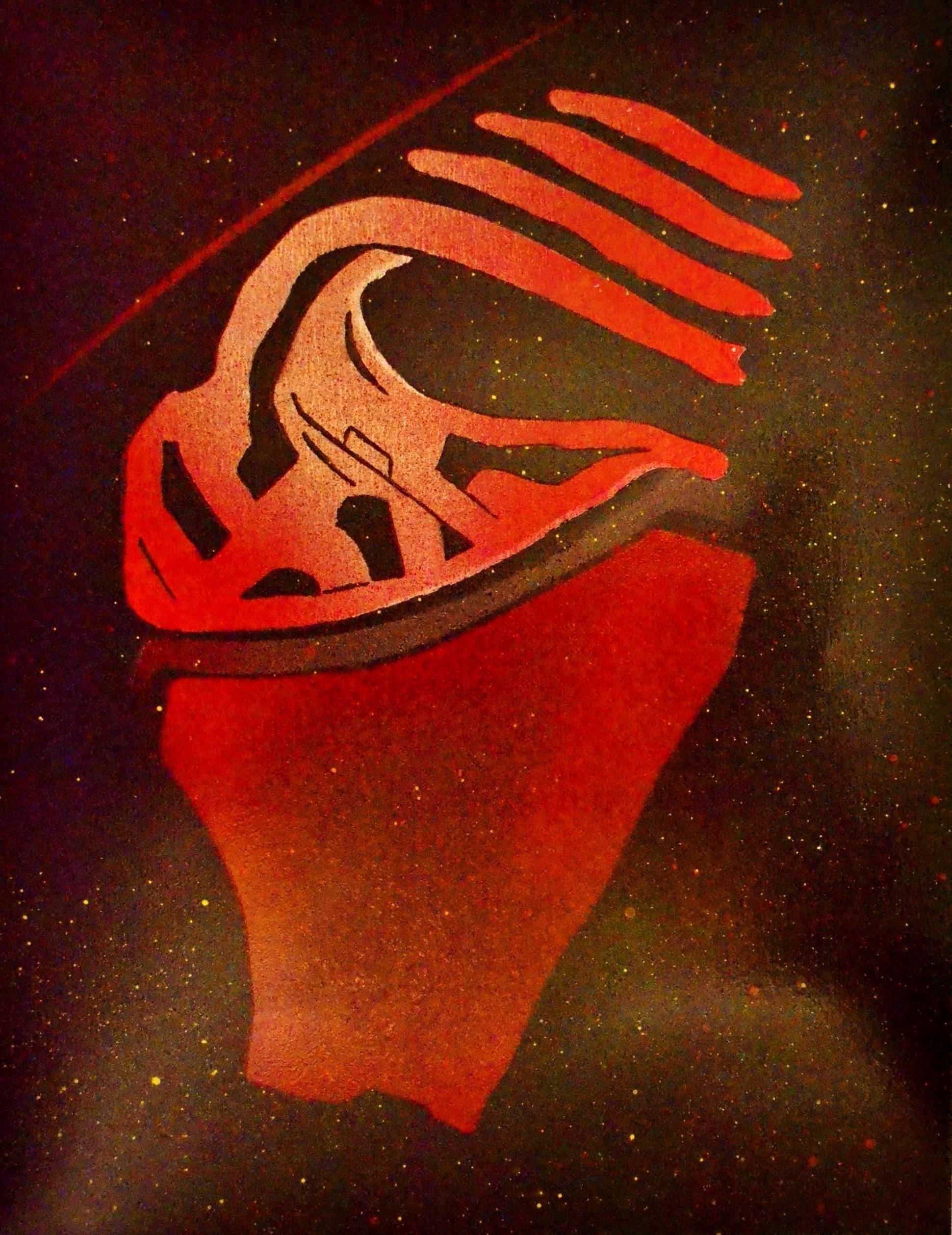 Kylo Ren Metal Painting Star Wars Force Awakens Dark Side Spray Paint by Art of Steel