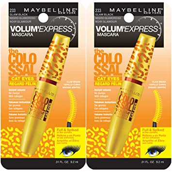 3cd5bf79451 Maybelline New York Volum' Express The Colossal Cat Eyes Washable Mascara  Makeup, Glam Black