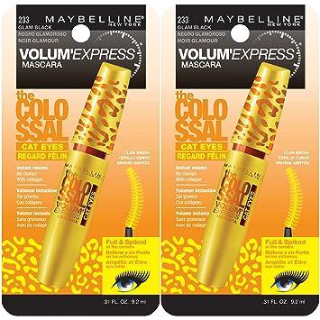 0862c0de3f1 Maybelline New York Volum' Express The Colossal Cat Eyes Washable Mascara  Makeup, Glam Black
