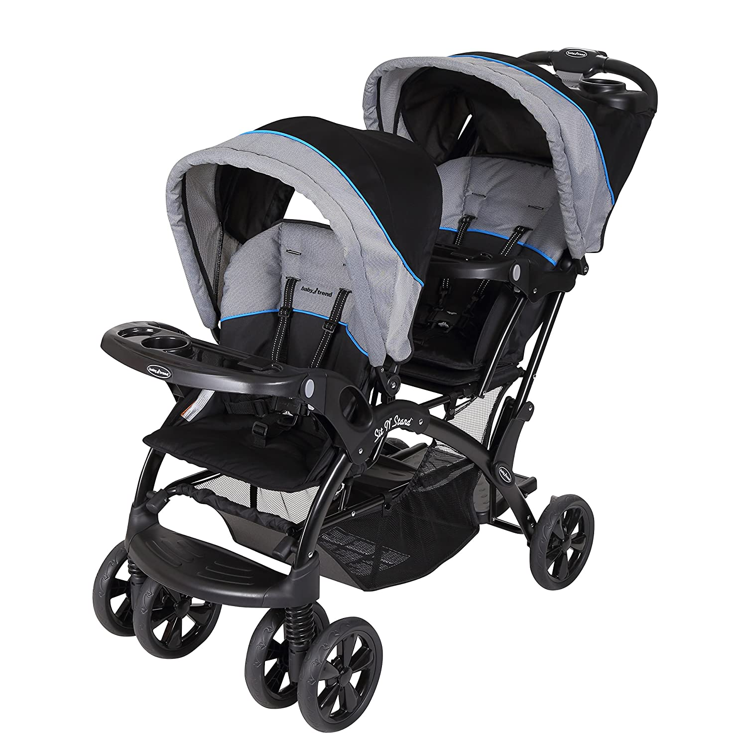 Baby Trend Double Sit N Stand Stroller, Millennium Blue SS76522