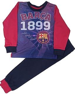 Boys F.C Barcelona Football Spanish Long 100/% Cotton Pyjamas Set 4-12 y