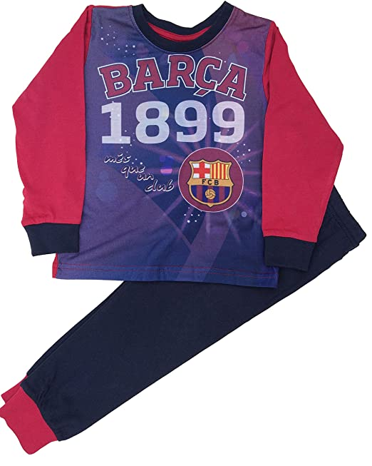 0e55492d7a8c5 Barcelona F.C. - Pijama Dos Piezas - para niño  Amazon.es  Ropa y accesorios