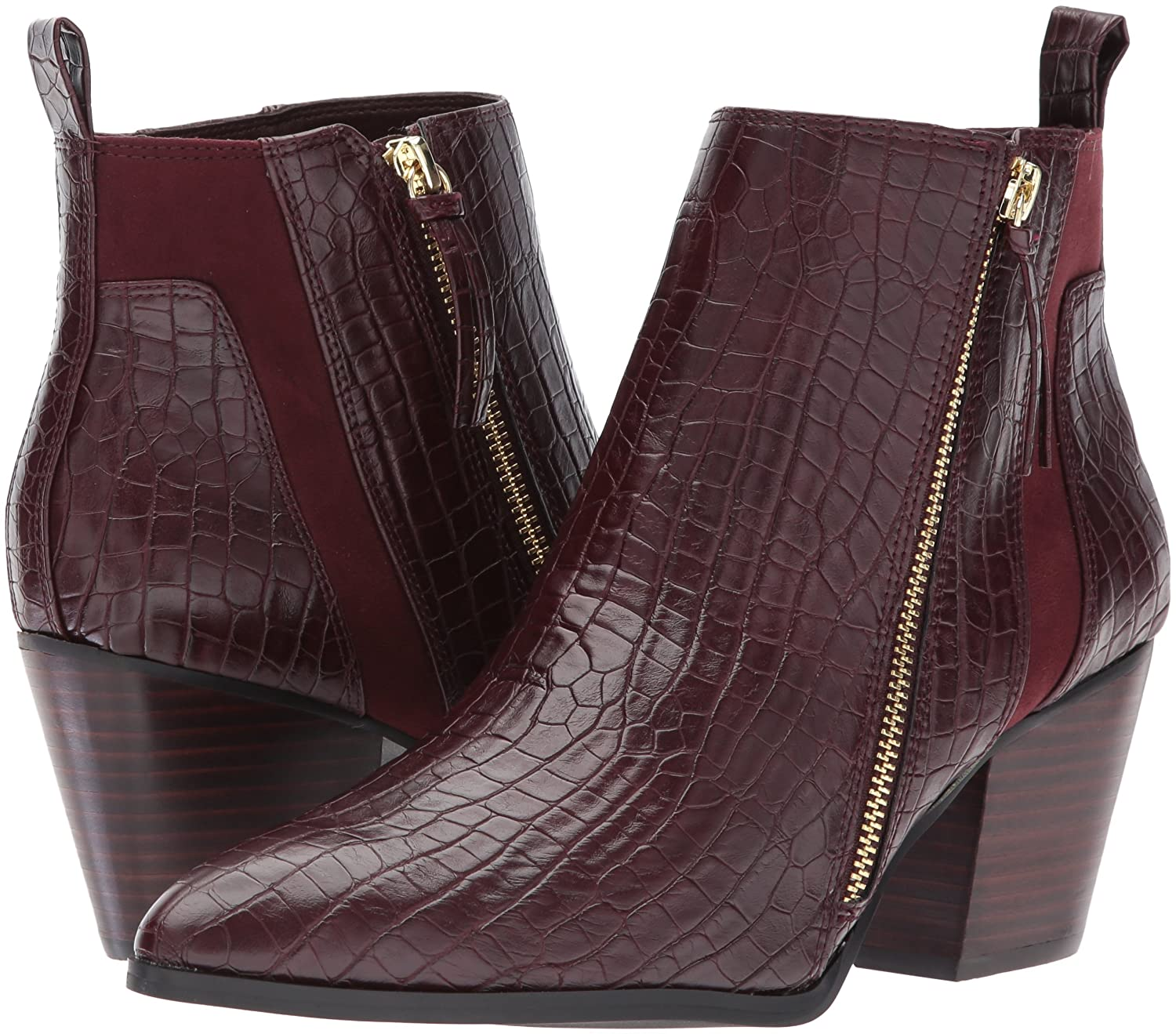 Bella Vita Bootie Women's Everest Ii Ankle Bootie Vita B073GFRLNH 8 W US|Burgundy Crocodile f65603
