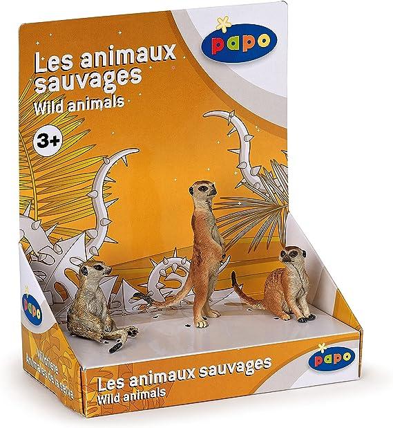 Animaux Figurine Suricates Assis 50207 Papo