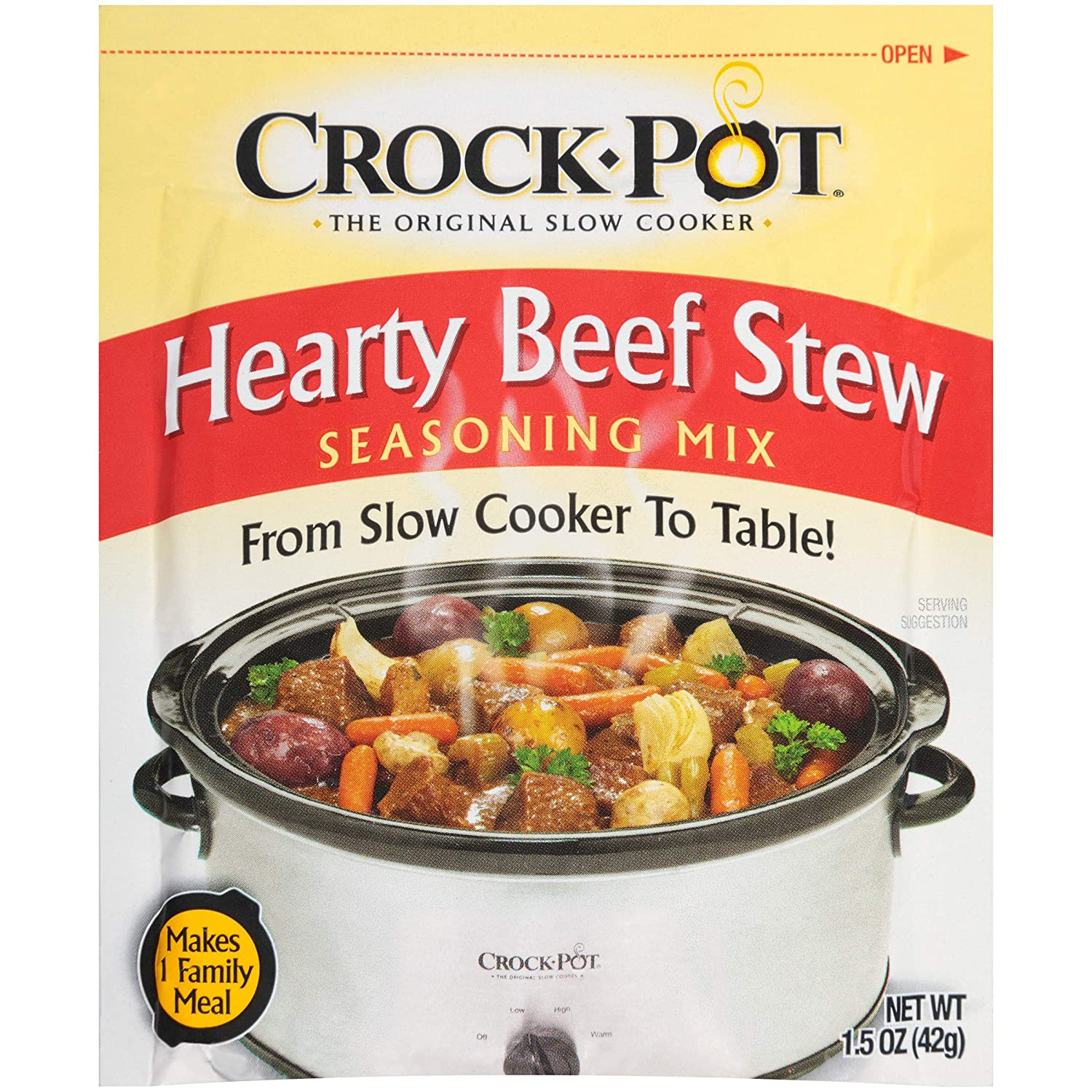 Crock Pot Seasoning Mix, Hearty Beef Stew, 1.5 Ounce (Pack of 12)