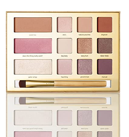 Tarte Swamp Queen Eye Cheek Palette with Brus