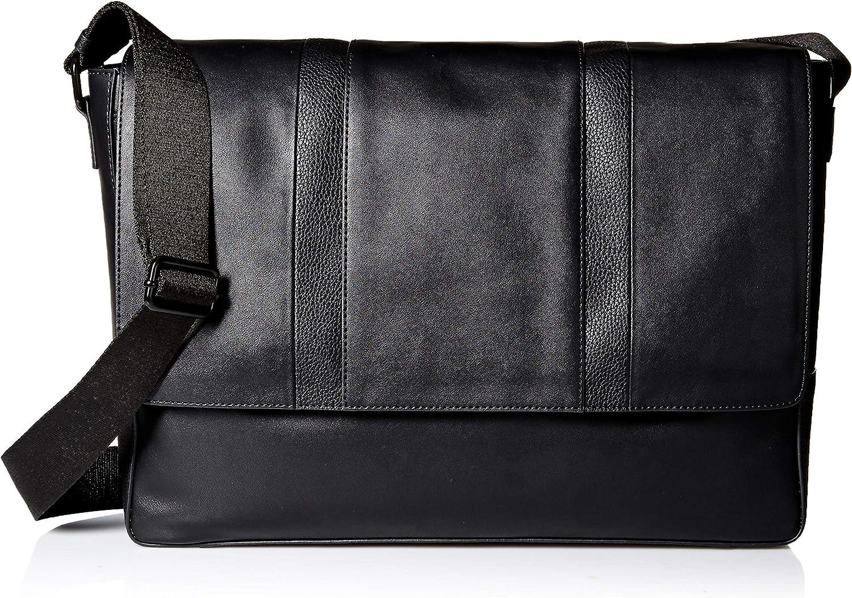 Calvin Klein Men's Pebble Smooth Messenger, black, 1 SIZE