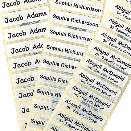 60 xétiquettes de nom,pas de couture ou de repassage nécessaire nom autocollant