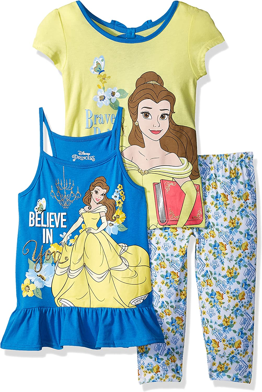 Brand New Girl/'s Disney Moana Dress And Leggings 2 Piece Outfit 3 To Choose From
