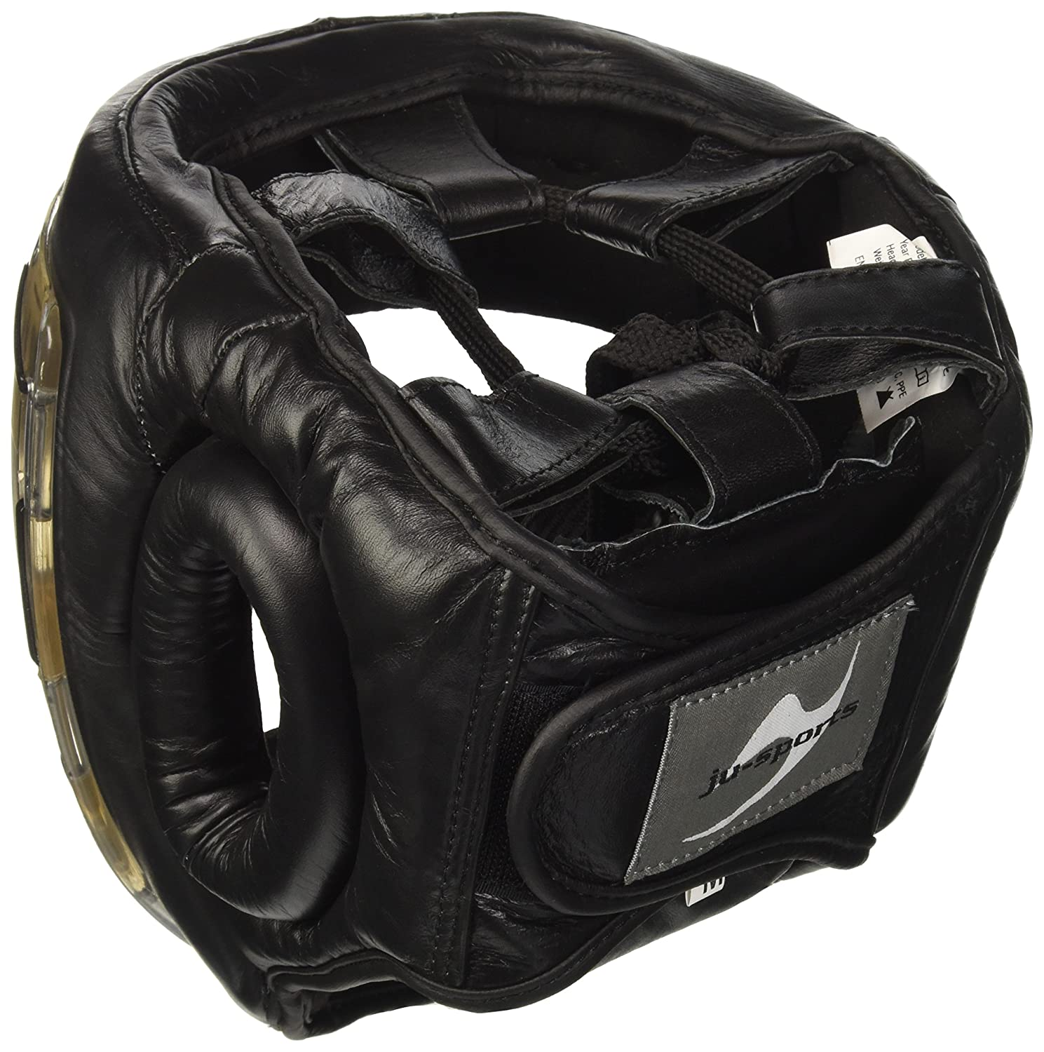 Casco de Artes Marciales Color Negro Ju-Sports Kopfschutz Shield Talla L