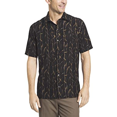 26a28aa6 Image Unavailable. Image not available for. Color: Van Heusen Men's Oasis  Printed Short Sleeve Shirt ...