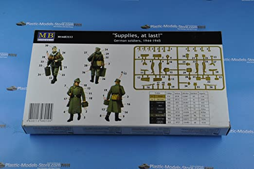 at last Master Box 3553 Supplies 1944-1945  1:35 German soldiers